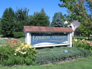 neighborhood entrance to Lyndon Village