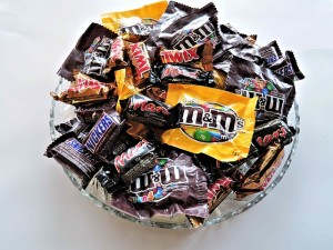 candy in a bowl